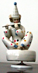 Clown Flutist Music Box