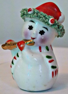 Christmas snowman with scarf and hat