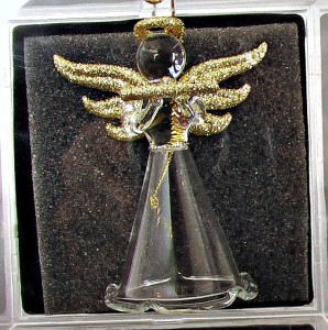 Angel Gold Glitter Ornament