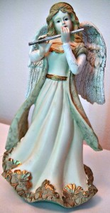Angel with flowing shawl