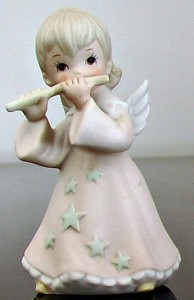 Angel with Pink Dress and Stars