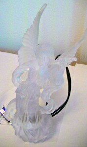 Clear Christmas tree angel